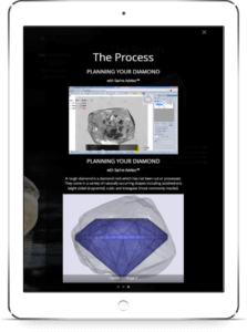 Example of a Diamond Journey ™ branded digital report powered by Sarine