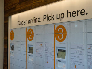 Buy Online Pick Up In Store stand retail technology