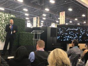 Roni Ben Ari VP Products at Sarine presents AI-based diamond grading in Las Vegas JCK 2018